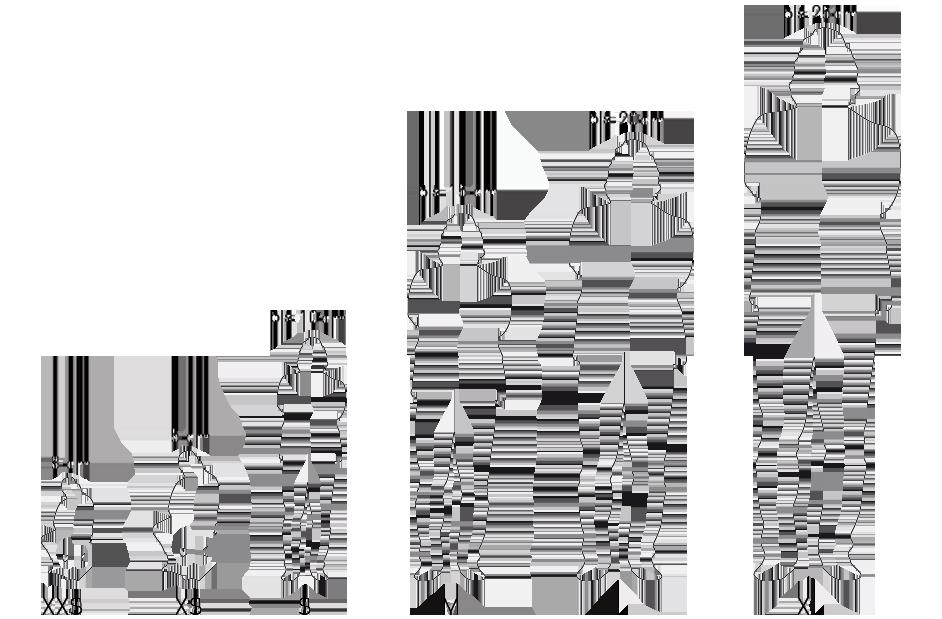 Größenübersicht & Bemaßung der 3D-Figuren